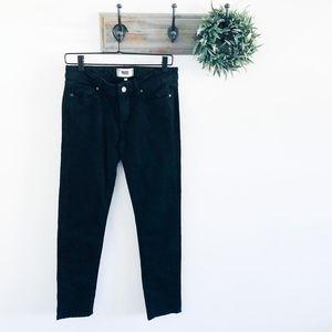 Paige Black High Rise Skyline Skinny Jeans 28